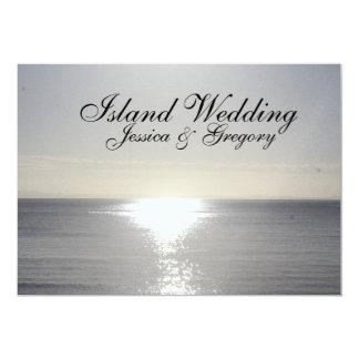 Convites tropicais do casamento da ilha da prata