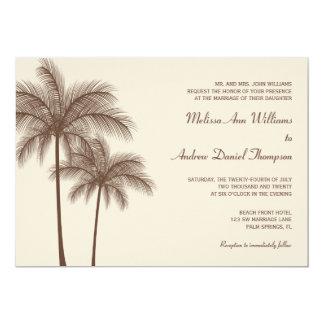 Convites tropicais do casamento da palmeira de