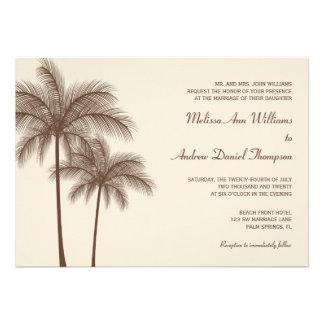 Convites tropicais do casamento da palmeira de Bro