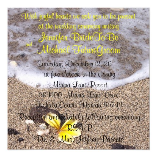 Convites tropicais do casamento de praia