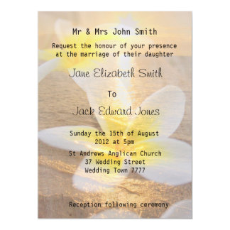 Convites tropicais do casamento de praia do