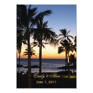 Convites tropicais do casamento do destino