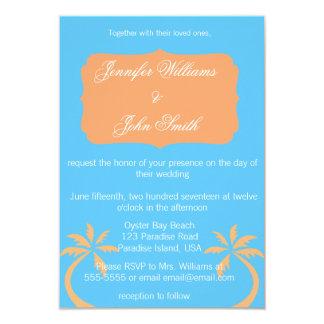 Convites tropicais do casamento do destino das