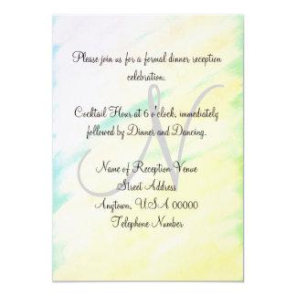 Convites tropicais do monograma da recepção de
