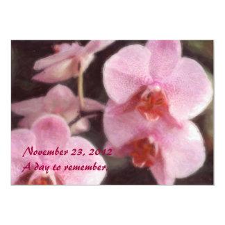 Convites tropicais havaianos da orquídea