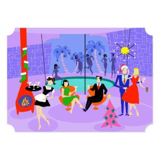 Convites tropicais retros do feriado da festa de convite 12.7 x 17.78cm