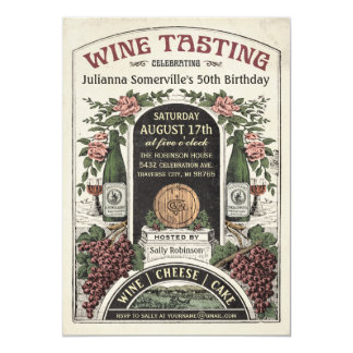 Convites v.2 da degustação de vinhos