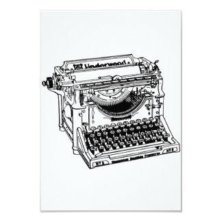 Convites velhos da máquina de escrever