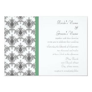 Convites verdes brancos pretos do casamento tema