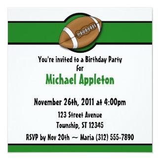 Convites verdes do aniversário do futebol