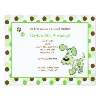 Convites VERDES do aniversário do menino ou da