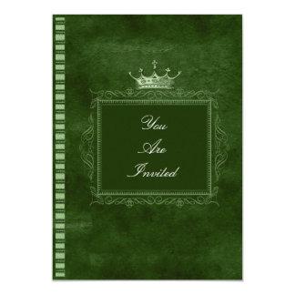 Convites verdes do casamento da coroa