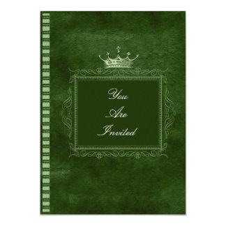 Convites verdes do casamento da moldura para