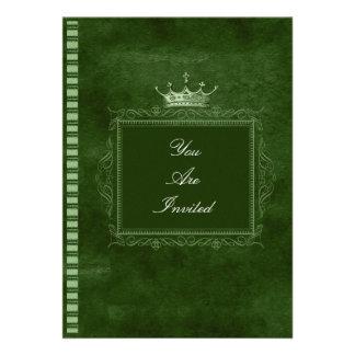 Convites verdes do casamento da moldura para retra