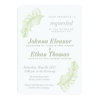 Convites verdes do casamento do Birds of a Feather