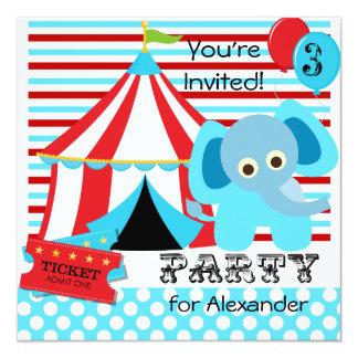 Convites vermelhos, brancos, e azuis do