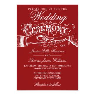 Convites vermelhos & brancos elegantes da