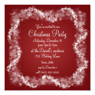 Convites vermelhos da festa de Natal