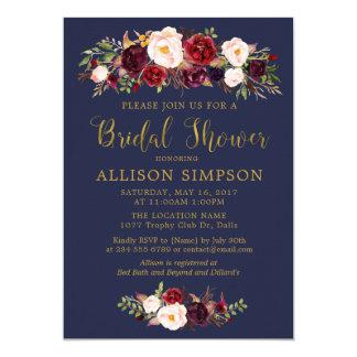 Convites vermelhos de BridalShower do outono de