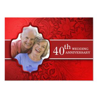 convites vermelhos do aniversário da foto