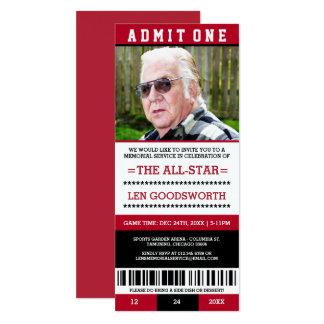 Convites vermelhos do bilhete da cerimonia