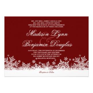 Convites vermelhos do casamento do feriado dos