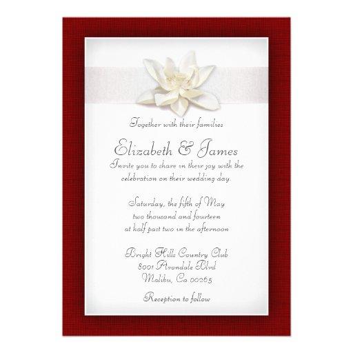 Convites vermelhos e brancos do casamento