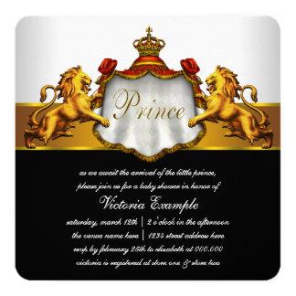 Convites vermelhos régios do príncipe chá de