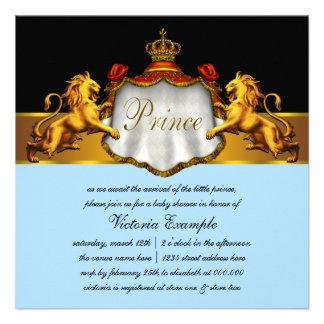 Convites vermelhos régios do príncipe chá de frald