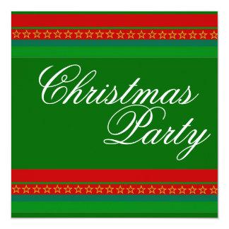 Convites vermelhos & verdes da festa de Natal