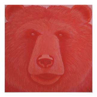 Convites Vermillion do urso