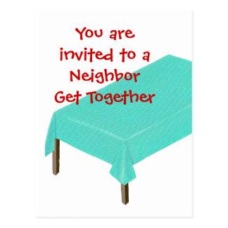 Convites vizinhos da reunião em cartão