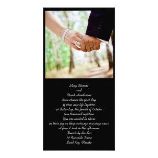Convites Wedding da foto do casal Cartão Com Foto