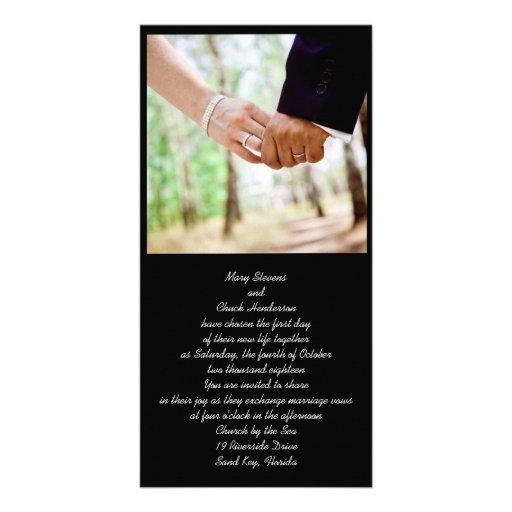Convites Wedding da foto do casal Cartões Com Foto