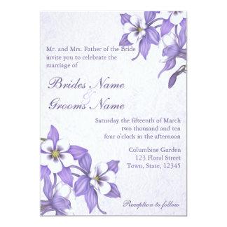 Convites Wedding do buquê 2 aquilégias