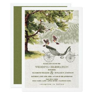 Convites Wedding do casamento da carruagem do