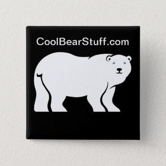 CoolBearStuff.com Bóton Quadrado 5.08cm