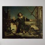 Copernicus na torre em Frombork Poster