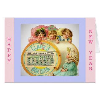 Cópia 1896 bonita da imagem do cartão do ano novo