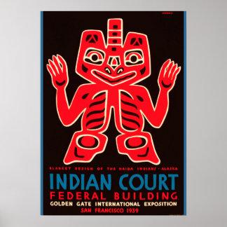 Cópia 1939 indiana do anúncio da corte da expo do pôster