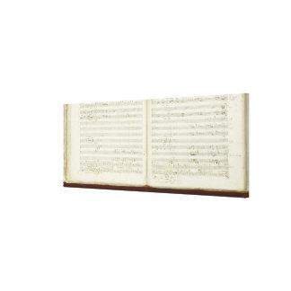 Cópia autógrafo 'do Flute mágico Impressão Em Canvas