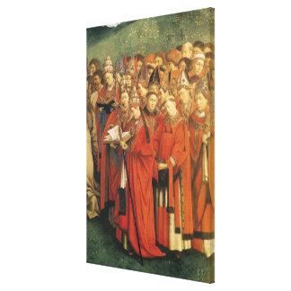 Cópia da adoração do cordeiro místico 2 impressão de canvas envolvidas