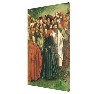 Cópia da adoração do cordeiro místico impressão de canvas envolvidas