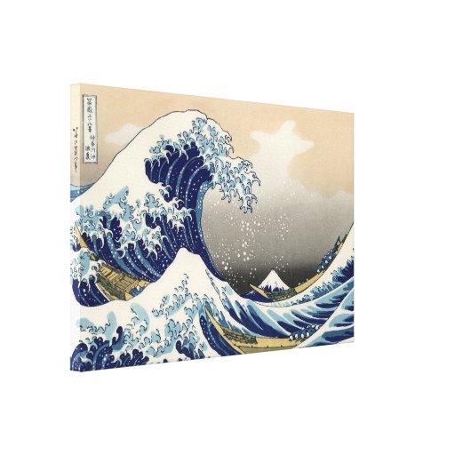 """""""Cópia da grande onda"""" do c.1930 original de Hokus Impressão Em Tela Canvas"""