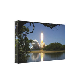Cópia das canvas do lançamento de Rocket Impressão De Canvas Envolvidas