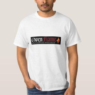 Cópia das produções da chama aberta camisetas