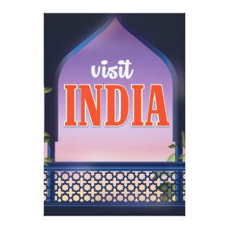Cópia das viagens vintage de India da visita Impressão Em Tela