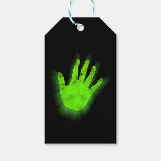 Cópia de incandescência da mão etiqueta para presente