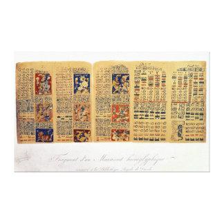 Cópia de um fragmento do códice de Dresden Impressão De Canvas Envolvidas