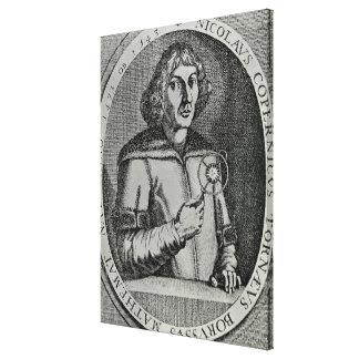 Cópia de um retrato de auto impressão de canvas envolvida